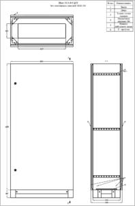 ЩМП-16.8.4-0 (1600х800х400) IP31 без монтажных панелей MECAS